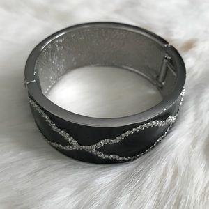 Ann Taylor Black and Silver Sequin Bracelet